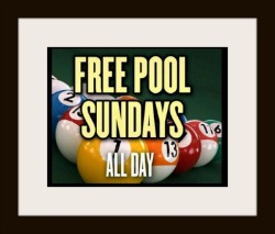 Join one our three pool leagues Sunday through Thursday!