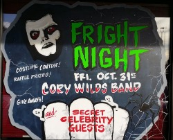 """Join us Friday October 31st for the south sounds biggest Halloween Bash! Live music with """"Cory Wilds"""" cash prizes and raffles!"""